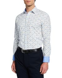 Bugatchi - Men's Long-sleeve Masks Printed Sports Shirt - Lyst