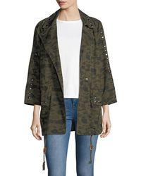 Rebecca Minkoff - Monarda Camouflage Utility Coat - Lyst