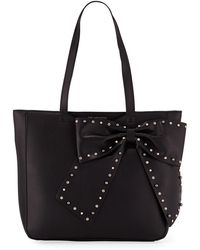 Karl Lagerfeld - Canelle Bow-embellished Shoulder Tote Bag - Lyst