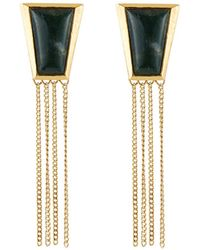 Stephanie Kantis - Green Agate Impose Earrings - Lyst