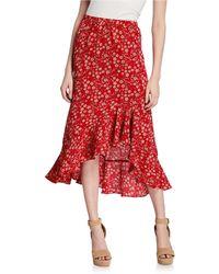 Max Studio - Raised Floral Flounce Maxi Skirt - Lyst