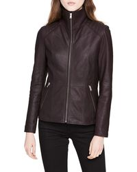 Marc New York - Classic Quilted-shoulder Leather Moto Jacket - Lyst
