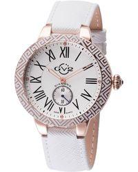 Gv2 - 40mm Astor Enamel Watch W/ Leather Strap White - Lyst