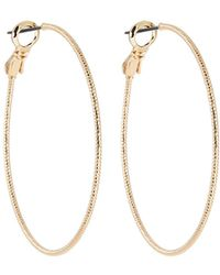 Lydell NYC - Golden Hoop Earrings - Lyst