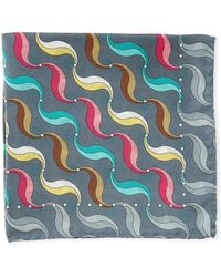 Bugatchi - Multicolor Swirl Silk Pocket Square - Lyst
