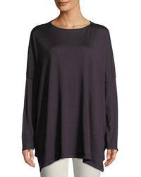 8d1b754aa9 Brunello Cucinelli - Cashmere-silk Pullover Long-sleeve Sweater - Lyst