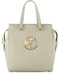 dcbca2894d71 Versace - Pebbled Leather Tote Bag Gray - Lyst