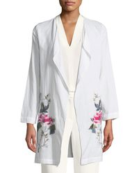 Neiman Marcus - Embroidered Cardigan Duster - Lyst