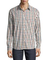 Neiman Marcus - Men's Regular-fit Untuck Heather Check Sport Shirt - Lyst