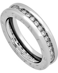 BVLGARI - Estate 18k White Gold B.zero1 Diamond Ring Size 5.25 - Lyst