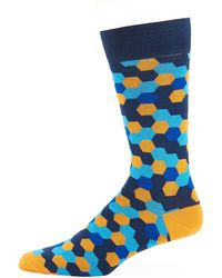 Jared Lang - Geo-print Mercerized Socks - Lyst