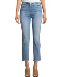 7 For All Mankind - Edie High-rise Ankle Straight-leg Jeans - Lyst