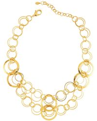 Jose & Maria Barrera - Hammered & Polished Link Necklace - Lyst