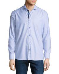 Maceoo - Men's Shaped-fit Diagonal-poplin Sport Shirt - Lyst