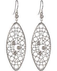 Roberto Coin - Bollicine 18k White Gold Drop Earrings With Diamonds - Lyst