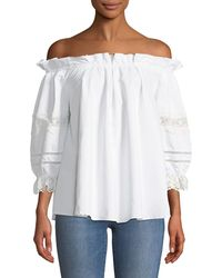 Romeo and Juliet Couture - Ruffled Off-the-shoulder Blouse - Lyst