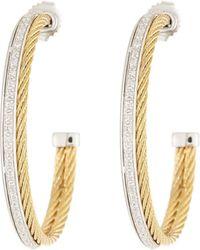 Alor - Classique Diamond Hoop Earrings - Lyst