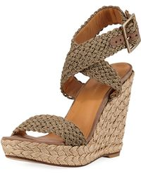 Stuart Weitzman - Alex Crocheted Wedge Espadrilles - Lyst