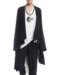 Urban Zen - Washed Silk Draped Cocoon Cardigan - Lyst