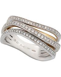 Chimento - 18k Two-tone Gold & Diamond Overlap Ring - Lyst