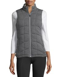 Marc New York - Front-zip Knit Vest W/ Striped Lining - Lyst