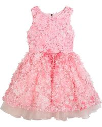Zoe - 3d Flower Party Dress - Lyst