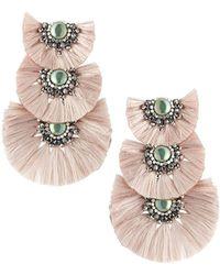 Nakamol - Three-tier Tassel Drop Earrings - Lyst