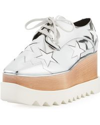 Stella McCartney - Britt Metallic Platform Derby Shoes - Lyst