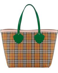 Burberry - Giant Reversible Vintage Check Tote Bag - Lyst dd1a2f4a4a1e8