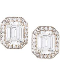 Fantasia by Deserio - Emerald-cut Pave Stud Earrings - Lyst