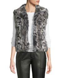 Adrienne Landau - Animal-printed Rabbit Fur Vest - Lyst