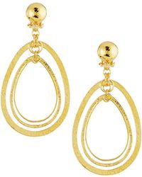 Jose & Maria Barrera - Hammered & Polished Drop Earrings - Lyst