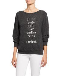 Wildfox - I Tried Baggy Beach Sweater Sweatshirt - Lyst