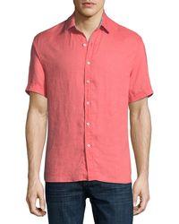 Neiman Marcus - Short-sleeve Linen Sport Shirt - Lyst