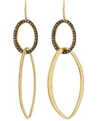Armenta - Old World Large Double-oval Earrings W/ Diamonds - Lyst