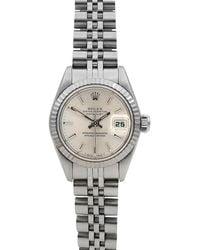 Rolex - Pre-owned 26mm Datejust 18k White Gold Bracelet Watch - Lyst