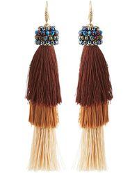 Kendra scott Nera Tiered Chandelier Earrings in Metallic | Lyst