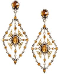 Konstantino - Thalassa Quartz Kite Chandelier Earrings - Lyst