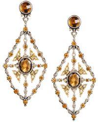 Konstantino | Thalassa Quartz Kite Chandelier Earrings | Lyst