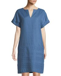 Lafayette 148 New York - Fabian Eyelet Embroidered Tunic Dress - Lyst