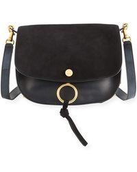 Chloé - Kurtis Medium Suede/leather Studded Shoulder Bag - Lyst