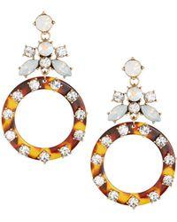 Fragments - Tortoise Shell Drop Earrings - Lyst