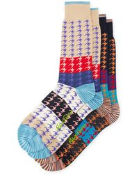 Robert Graham - Two-pack Houndstooth Pattern Socks - Lyst