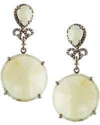 Bavna | Double Sapphire Drop Earrings | Lyst