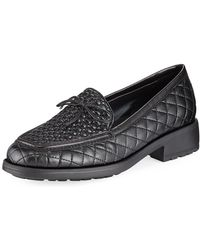 Sesto Meucci - Merrie Quilted Heeled Loafer - Lyst