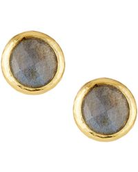 Gurhan - Galapagos Labradorite Stud Earrings - Lyst
