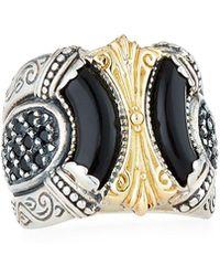 Konstantino - Ismene Black 18k Filigree Ring - Lyst