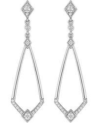 Penny Preville - 18k Diamond Deco Drop Earrings - Lyst