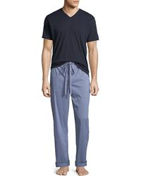 Neiman Marcus - Men's Two-piece Check Pyjama Gift Set - Lyst