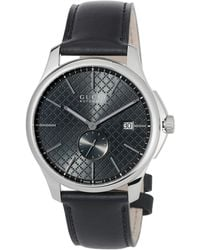 697a29fe72b Gucci - 40mm G-timeless Men s Automatic Watch W  Leather Strap Black - Lyst